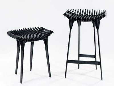 Scopri sgabello grafite h 45 cm grigio carbone di ibride made