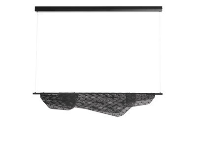 Suspension Méditerranéa LED / L 100 cm - Métal perforé - Petite Friture noir en métal