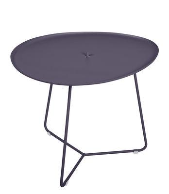 Table basse Cocotte / L 55 x H 43,5 cm - Plateau amovible - Fermob prune en métal
