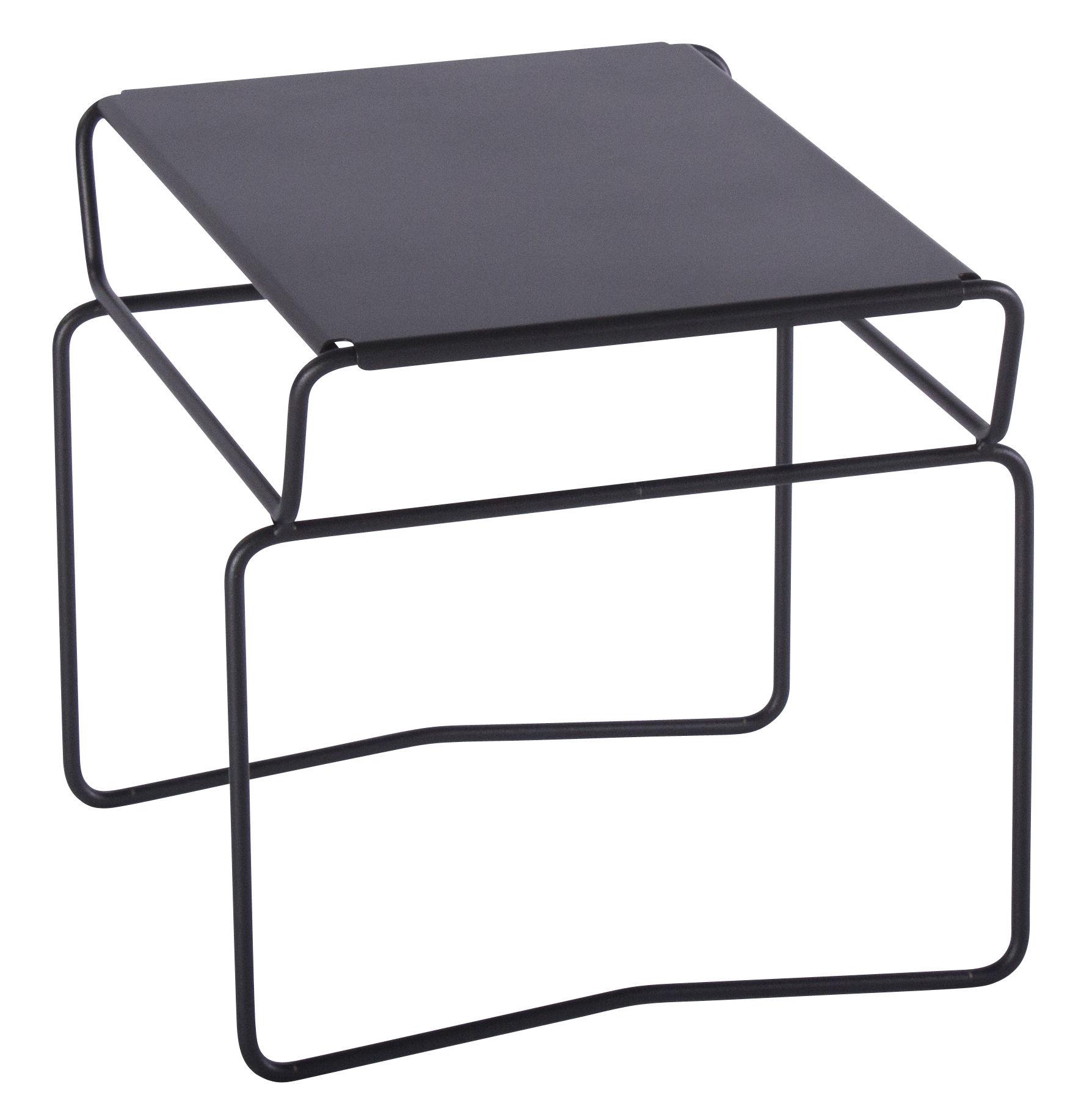 Mobilier - Tables basses - Table basse Fil  Confort / 46 x 41 cm - AA-New Design - Plateau Noir / Structure Noire - Acier laqué époxy