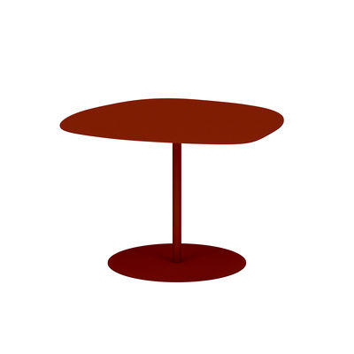 Table basse Galet n°3 OUTDOOR / 57 x 64 x H 37 cm - Matière Grise rouge/orange/marron en métal