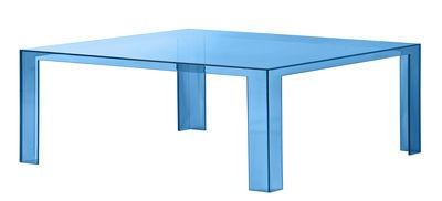 Table basse Invisible Low / 100 x 100 x H 31 cm - Kartell pétrole en matière plastique