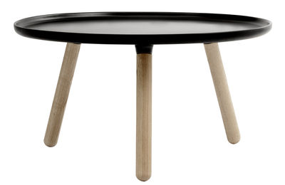 Table basse Tablo Large / Ø 78 cm - Normann Copenhagen noir en matière plastique/bois