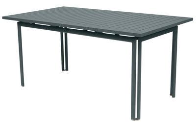 Table Costa / 160 x 80 cm - Fermob gris orage en métal