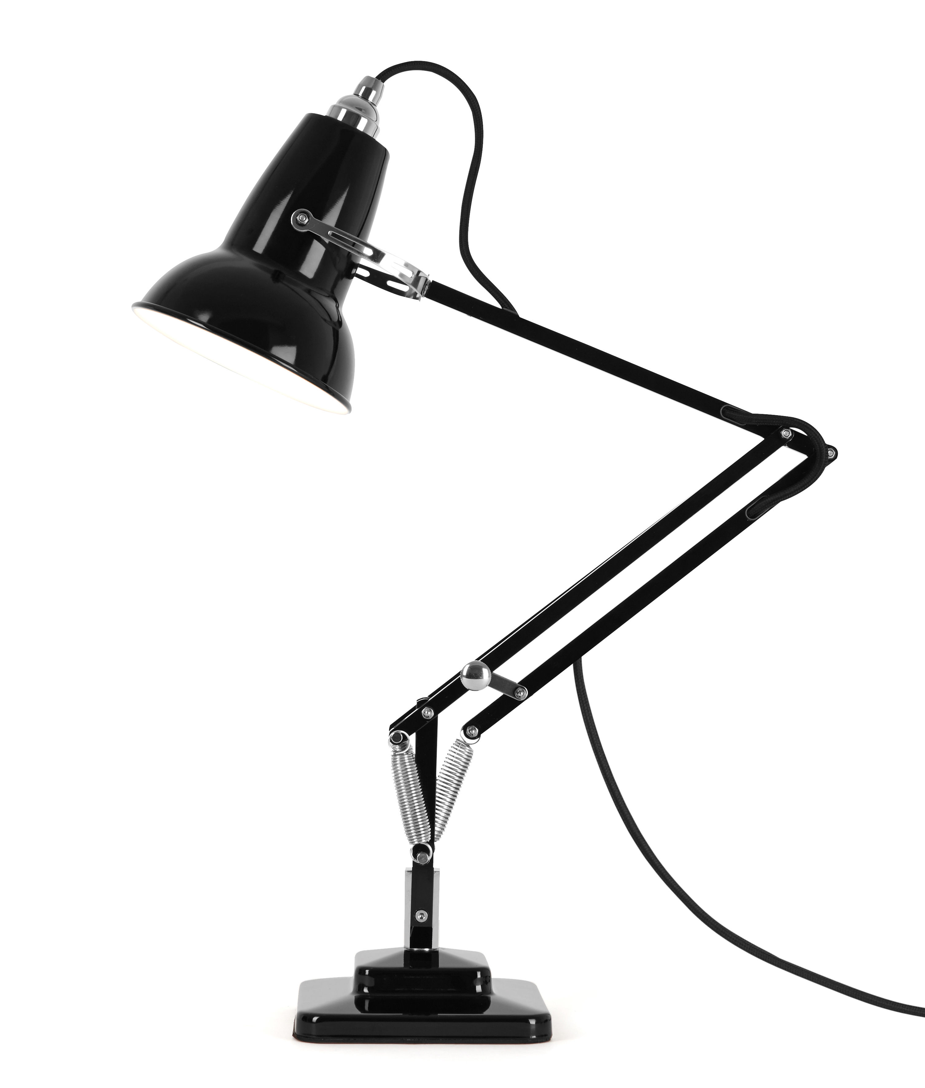 Lighting - Table Lamps - Original 1227 Mini Table lamp - 2 articulated arms - H max 50 cm by Anglepoise - Jet Black - Aluminium, Cast iron, Steel
