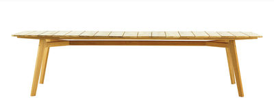 Table rectangulaire Knit / 263 x 110 cm - Teck - Ethimo teck naturel en bois