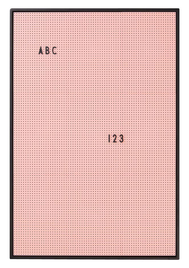 Déco - Mémos, ardoises & calendriers - Tableau memo A2 / L 42 x H 59 cm - Design Letters - Rose - ABS, Aluminium