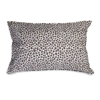 Taie d'oreiller 50 x 70 cm / Percale lavée - Au Printemps Paris marron/beige en tissu
