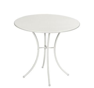Pigalle Tisch / Metall - Ø 80 cm - Emu - Weiß