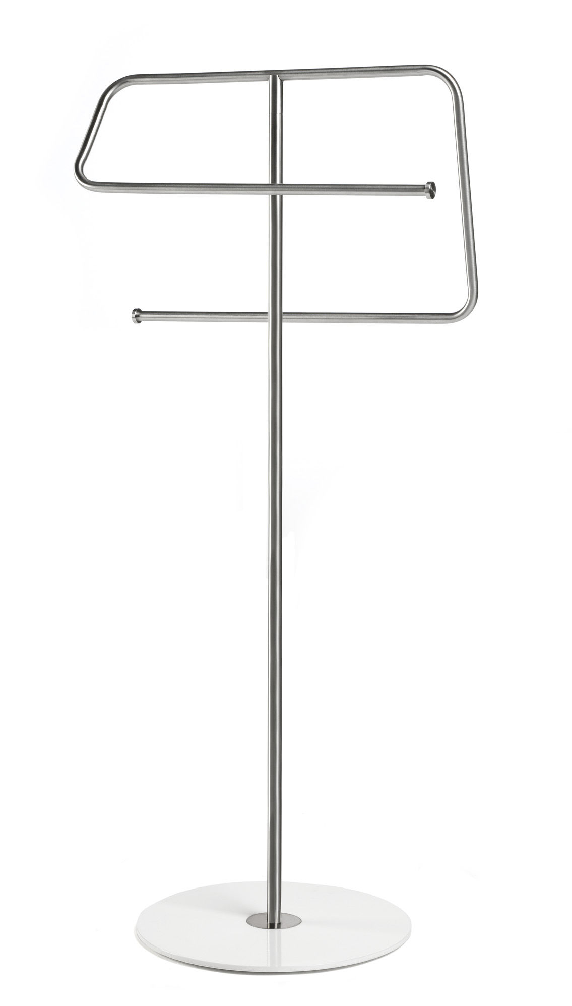 Decoration - For bathroom - Kali Towel rail - Towel stand by Authentics - Stainless steel - White base - Stainless steel