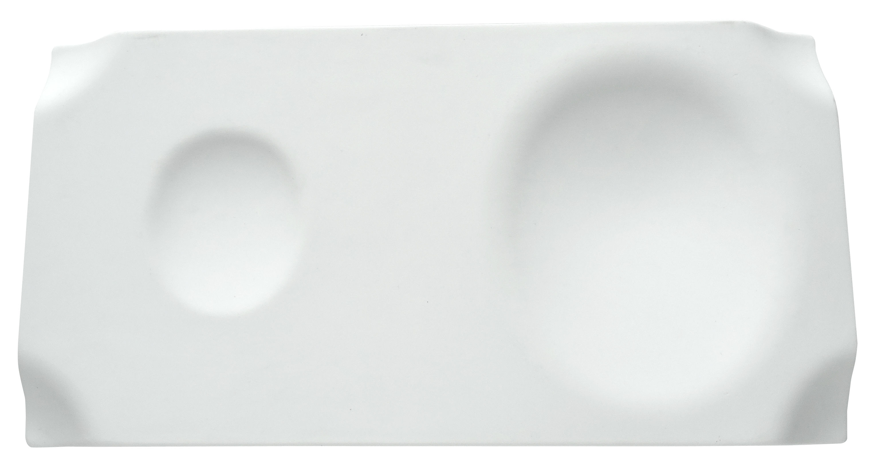 Tableware - Trays - Jo Tray - 29 x 15 cm by cookplay - Matt white - Matt porcelain