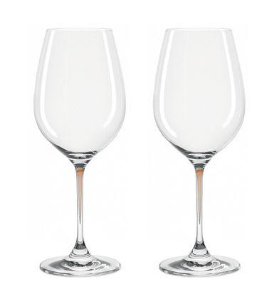 Verre à vin La Perla / Set de 2 - Leonardo marron en verre