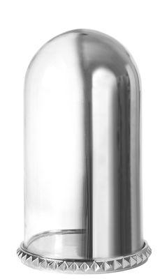 Interni - Oggetti déco - Vetrinetta Ghost Shell - / H 34 cm di Diesel living with Seletti - H 34 cm / Vetro trasparente e vetro con rifinitura a specchio - Acciaio, Vetro
