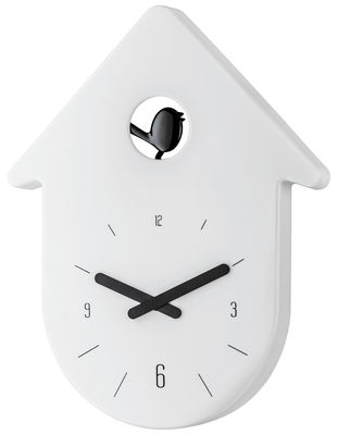 Decoration - Wall Clocks - Toc-Toc Wall clock by Koziol - Dial : white / Pointer : black - Recyclable plastic