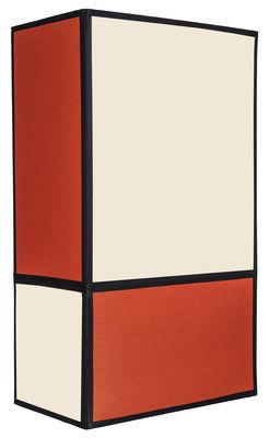 Radieuse Large Wandleuchte / ohne Fassung und Stromanschluss - H 36 cm - Maison Sarah Lavoine - Orange,Schwarz,Ecru