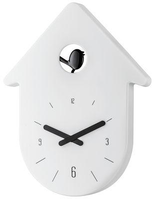 Dekoration - Uhren - Horloge murale Toc-Toc - Koziol - Cadran : blanc / Aiguilles : noir - Recycelbarer Kunststoff