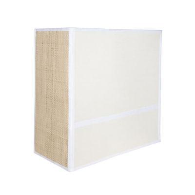 Luminaire - Appliques - Applique Céleste / H 25 cm - Non électrifiée - Maison Sarah Lavoine - Blanc / Naturel - Acier, Percale de coton, Rabane naturelle
