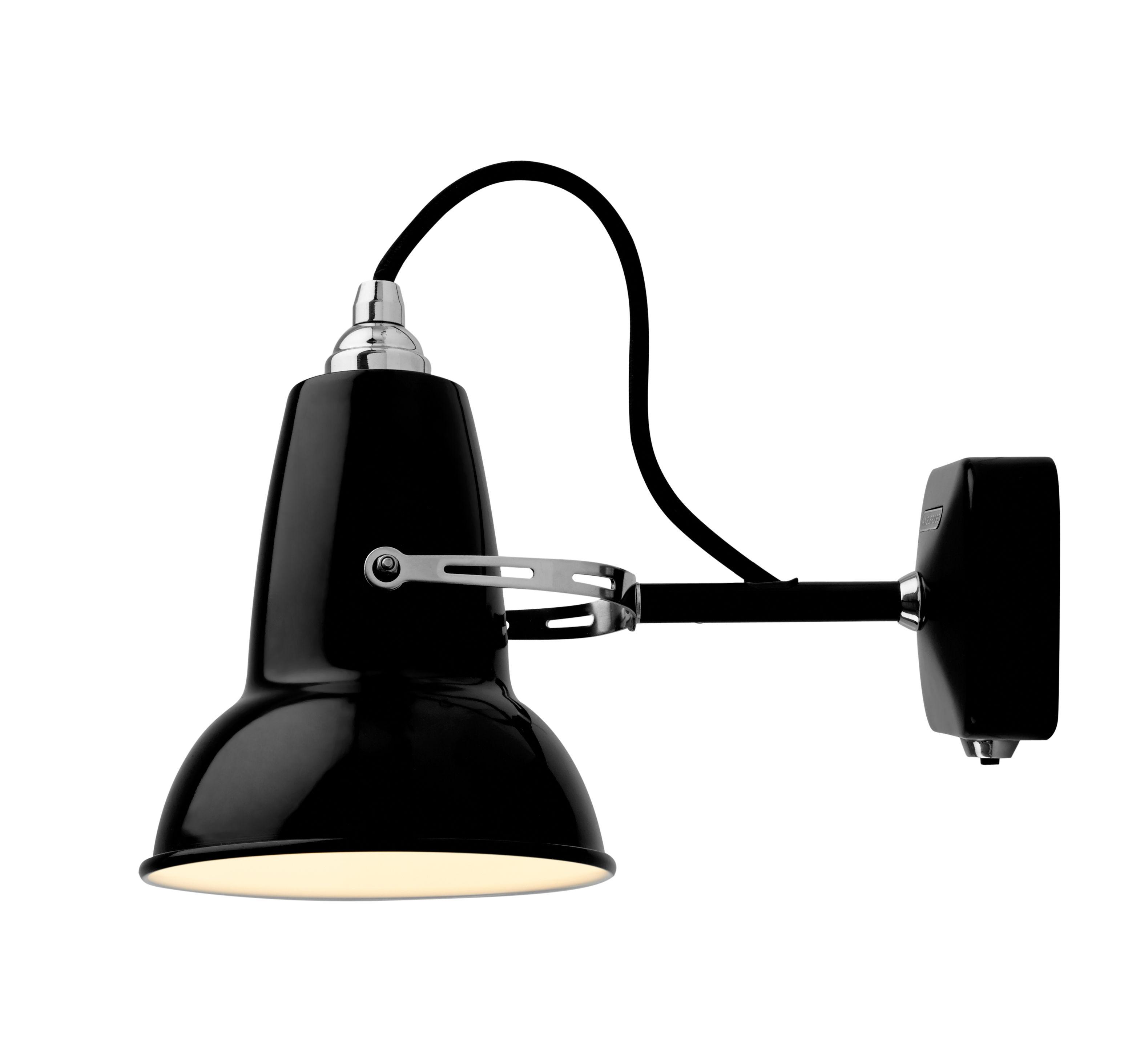 Luminaire - Appliques - Applique Original 1227 Mini / Métal - Anglepoise - Noir Jet - Acier, Fonte d'aluminium