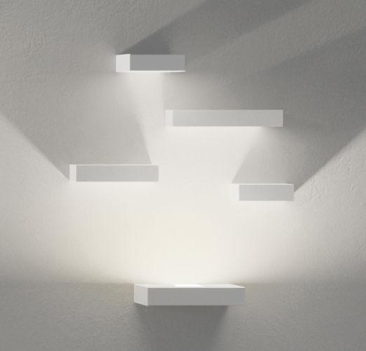 Illuminazione - Lampade da parete - Applique Set - LED / Set 5 moduli di Vibia - Bianco - metallo laccato, policarbonato
