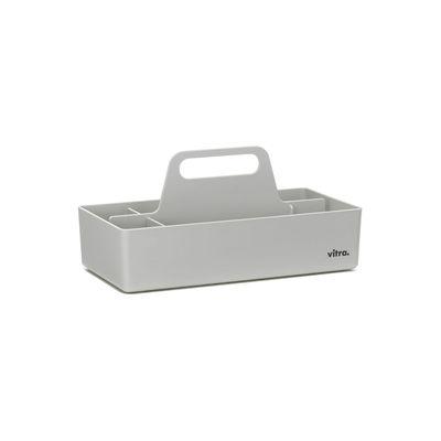 Déco - Boîtes déco - Bac de rangement Toolbox RE / Recyclé - Compartimenté / 32 x 16 cm - Vitra - Gris - Polypropylène recyclé