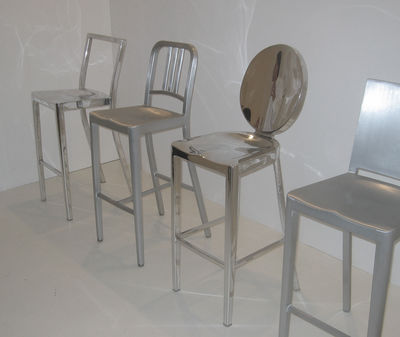 Marvelous Icon Outdoor Bar Chair H 75 Cm Metal By Emeco Caraccident5 Cool Chair Designs And Ideas Caraccident5Info