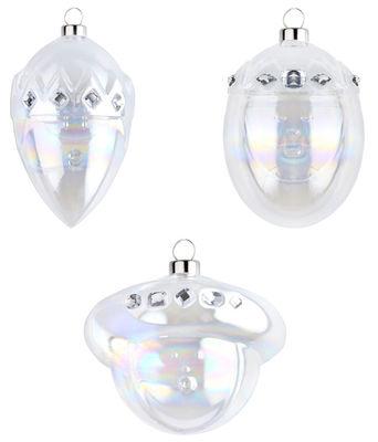 Boule de Noël / Set de 3 : les Rois mages - A di Alessi blanc en verre