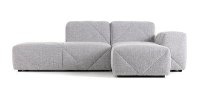 Canapé d'angle BFF / Accoudoir droit - L 221 cm - Moooi gris en tissu