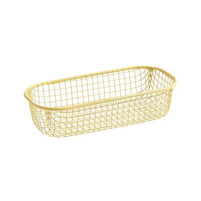 Tavola - Cesti, Fruttiere e Centrotavola - Cesto Trinkets - / Rettangolare - Griglia di Hay - Giallo chiaro - Ferro dipinto