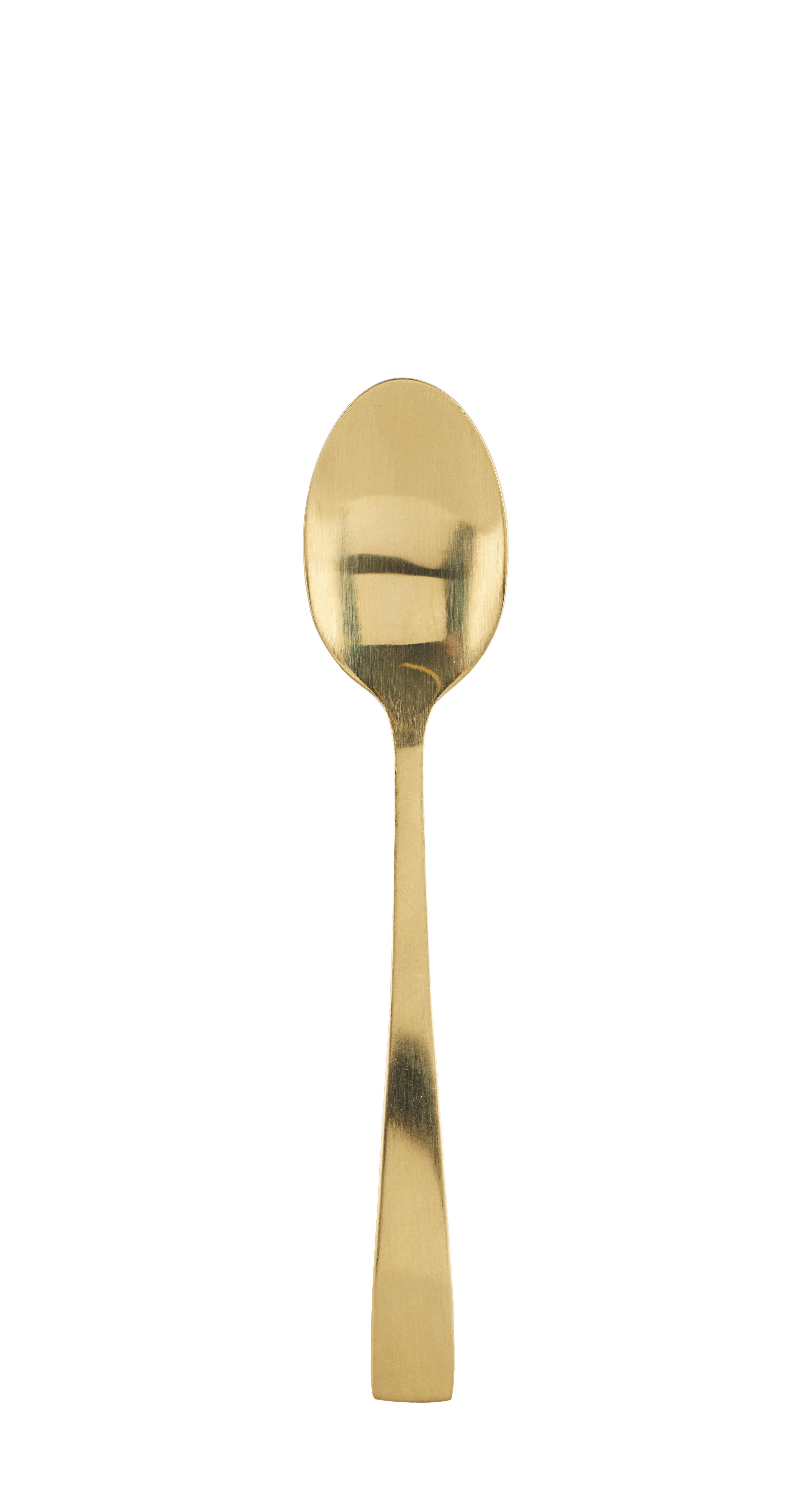 Arts de la table - Couverts de table - Cuillère à café Golden / L 14,3 cm - House Doctor - Cuillère à café / Or - Acier inoxydable
