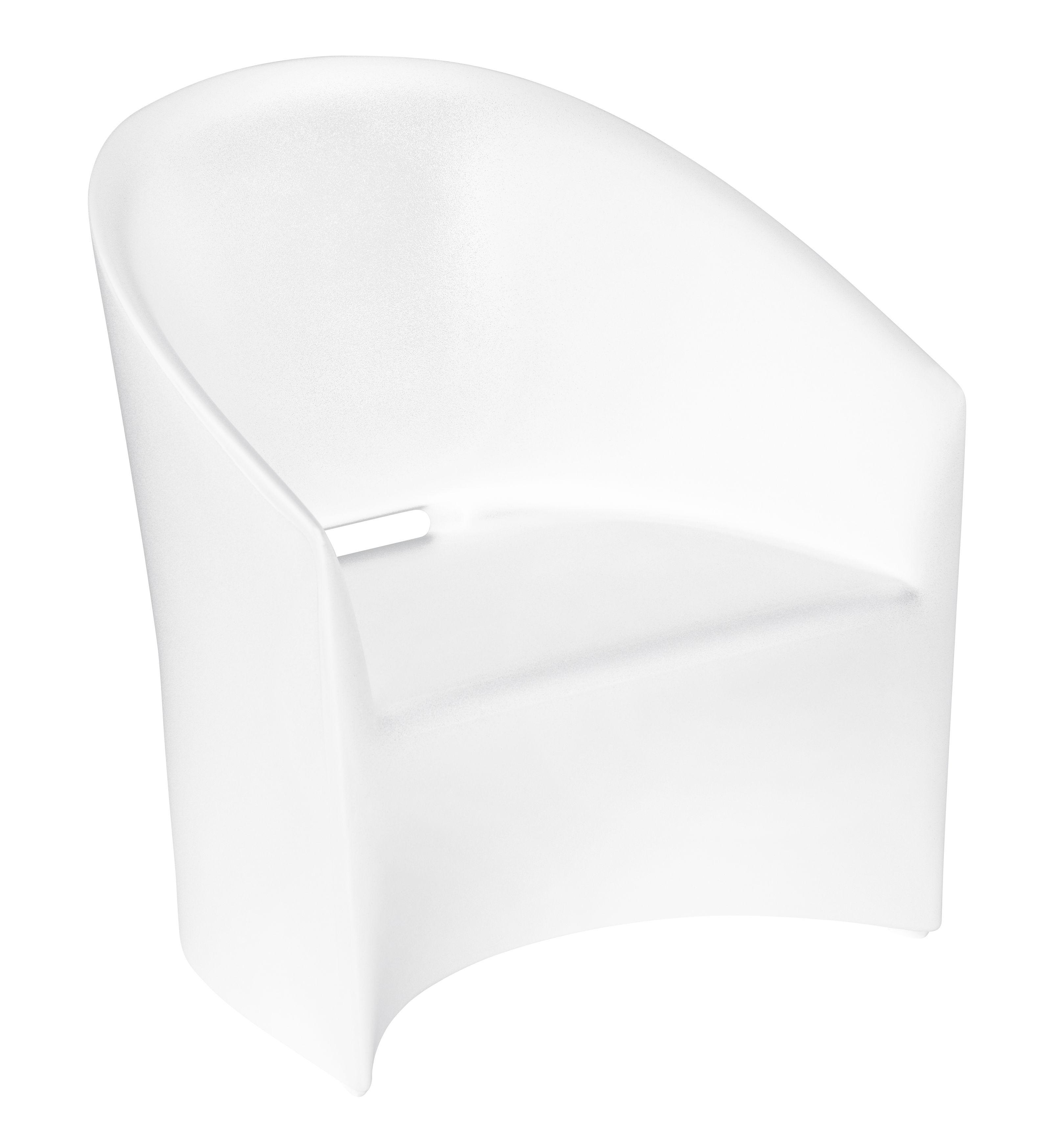 Mobilier - Fauteuils - Fauteuil PineBeach / Intérieur-extérieur - Serralunga - Blanc - Polyéthylène