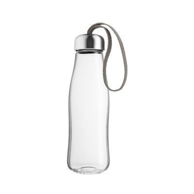Tableware - Water Carafes & Wine Decanters - Flask - / Glass - 0.5 L by Eva Solo - Taupe - Borosilicated glass, Nylon, Stainless steel