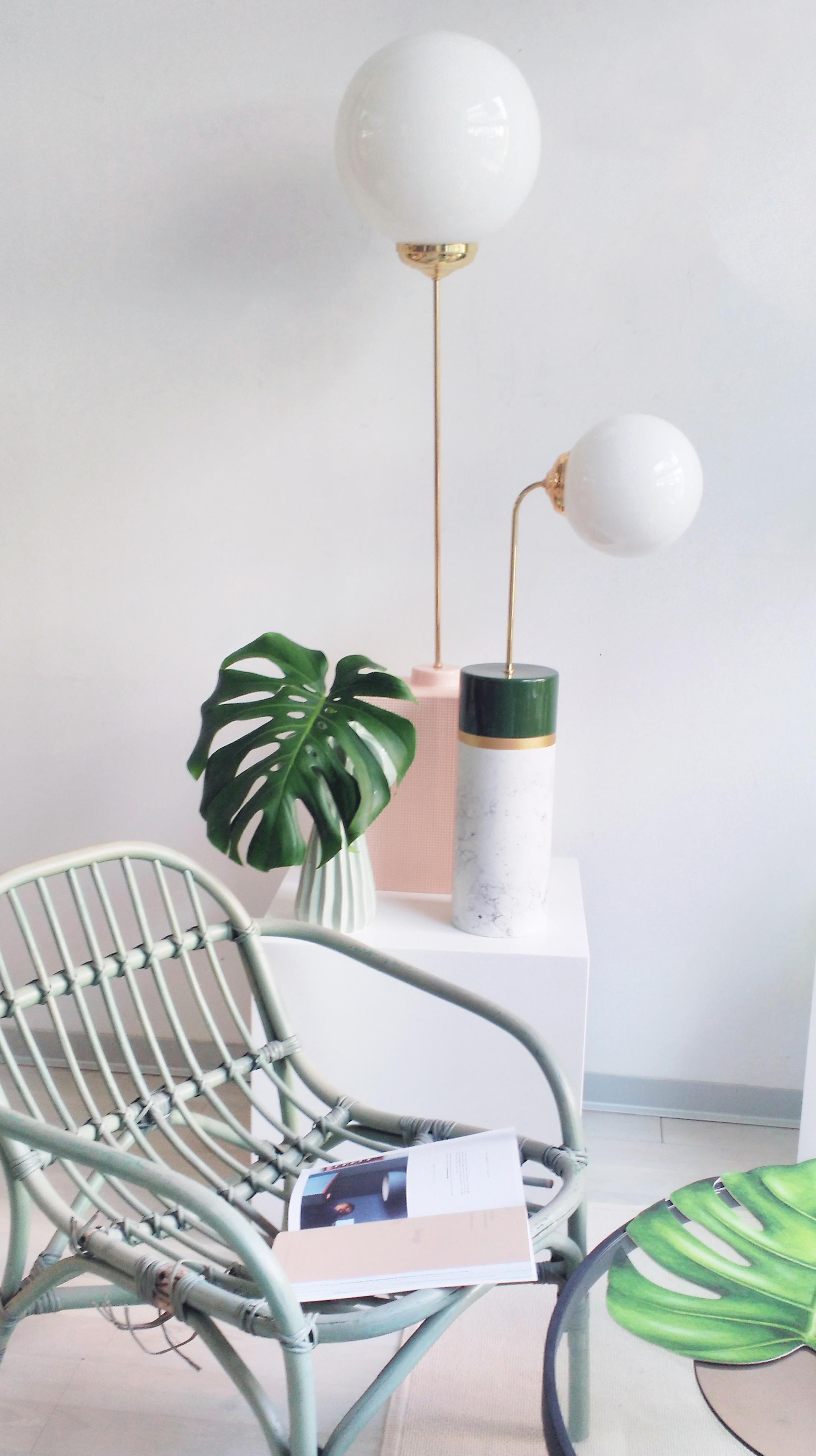 Avalon round lampada da tavolo ceramica h 85 cm - Lampada da tavolo verde ...