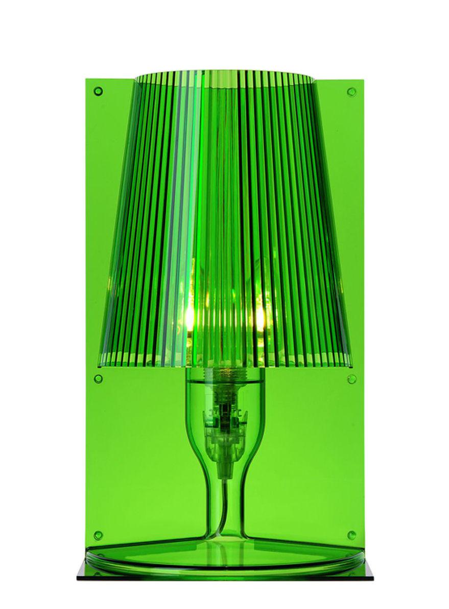 Lampada da tavolo take di kartell verde made in design for Lampada da tavolo verde