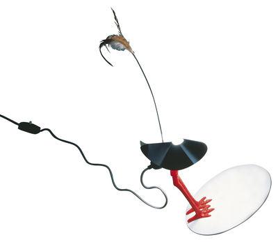 Luminaire - Lampes de table - Lampe de table Bibibibi - Ingo Maurer - Rouge / Noir - Métal, Plastique, Plume, Porcelaine