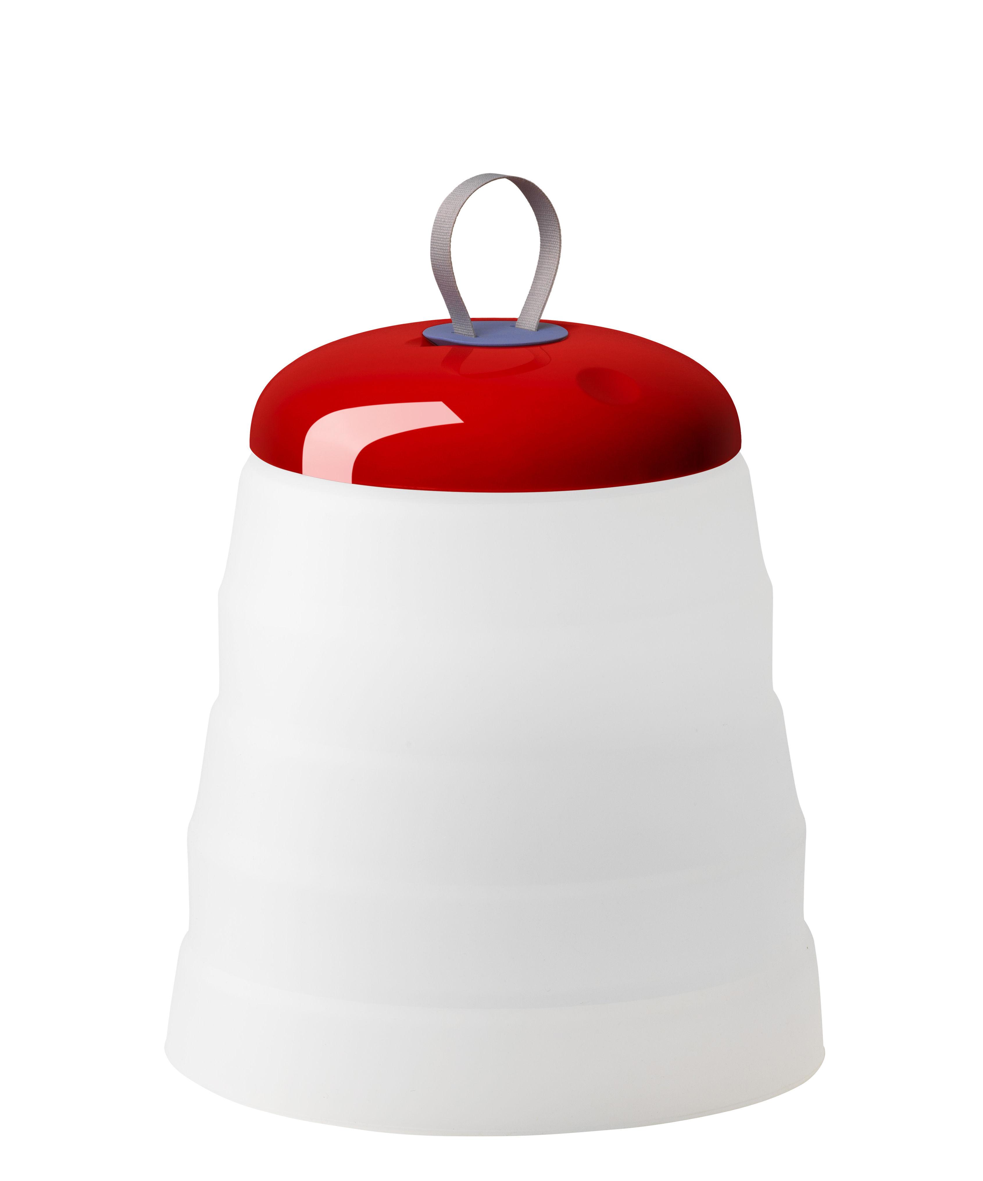 Leuchten - Tischleuchten - Cri Cri LED Outdoor Lampe ohne Kabel / H 31 cm - mit USB-Ladekabel - Foscarini - Rot - ABS, PMMA, Silikon