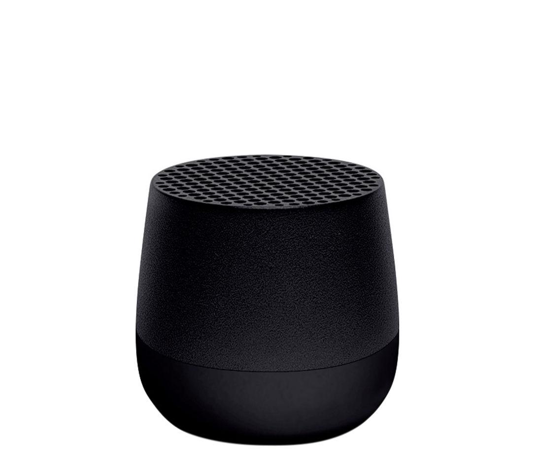 Accessori moda - Altoparlante & suono - Mini enceinte Bluetooth Mino - / Wireless - Ricarica USB di Lexon - Nero - ABS, Alluminio