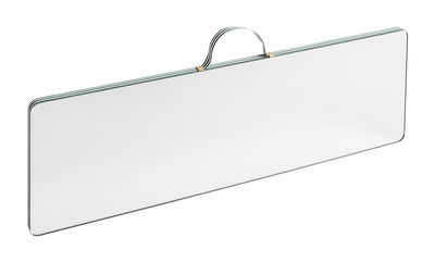 Miroir mural Ruban Large / Rectangle - L 43,5 x H 13,5 cm - Hay vert en tissu