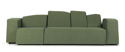Furniture - Sofas - Something Like This Modular sofa - 2 units / 3 seats - L 270 cm by Moooi - Green - Fabric - Wood - Foam - Metal