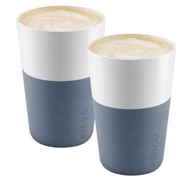 Mug Cafe Latte / Set de 2 - 360 ml - Eva Solo blanc,bleu acier en céramique