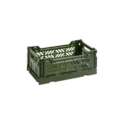 Déco - Pour les enfants - Panier Colour Crate Small / 26 x 17 cm - Hay - Kaki - Polypropylène