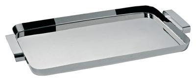 Tavola - Vassoi  - Piano/vassoio Tau di Alessi - Inox - Acciaio inossidabile