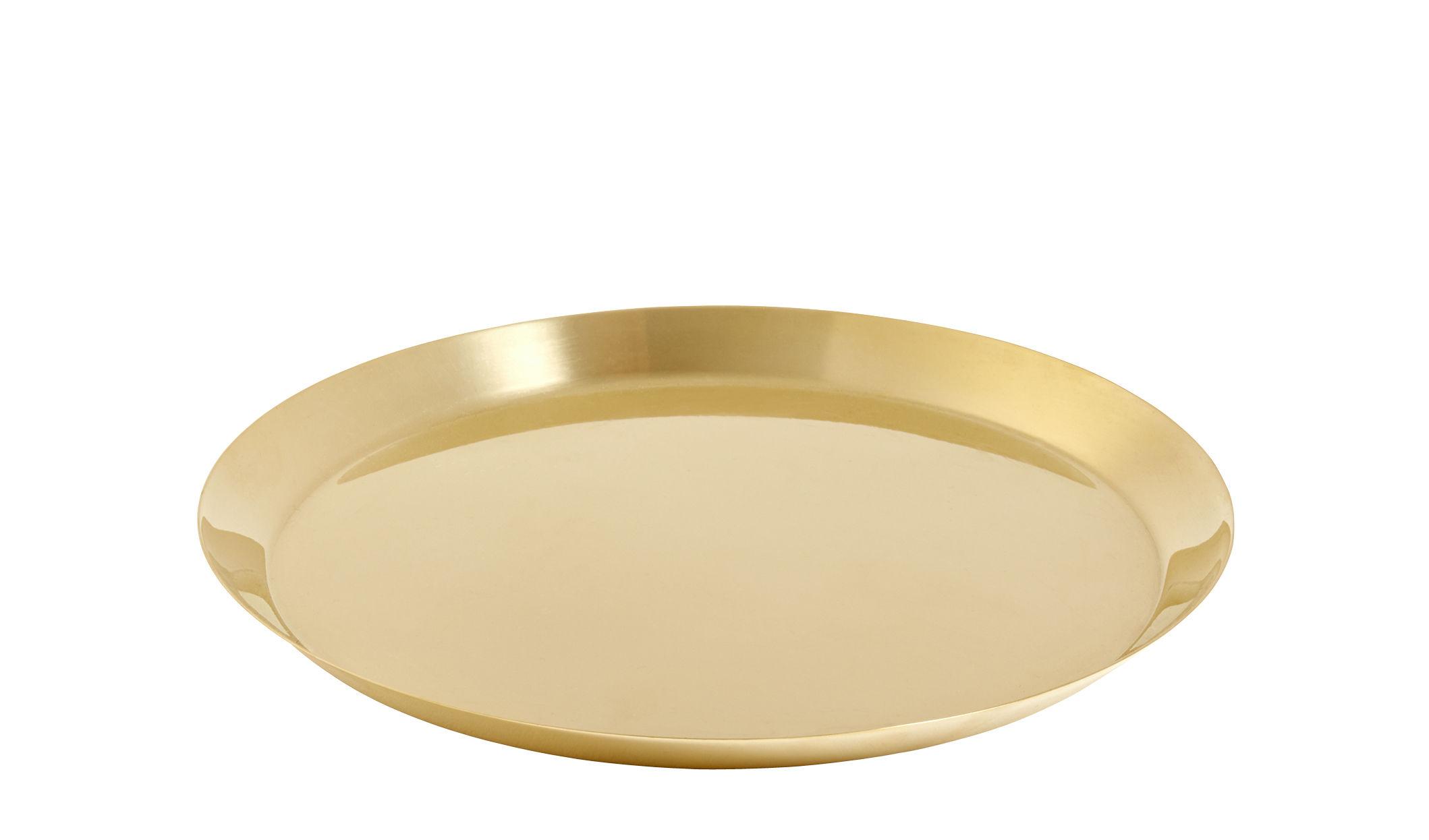 Interni - Vasi e Piante - Piattino sottotazza - per vaso Botanical XL / Ø22 cm di Hay - Sottovaso / Oro - Ottone