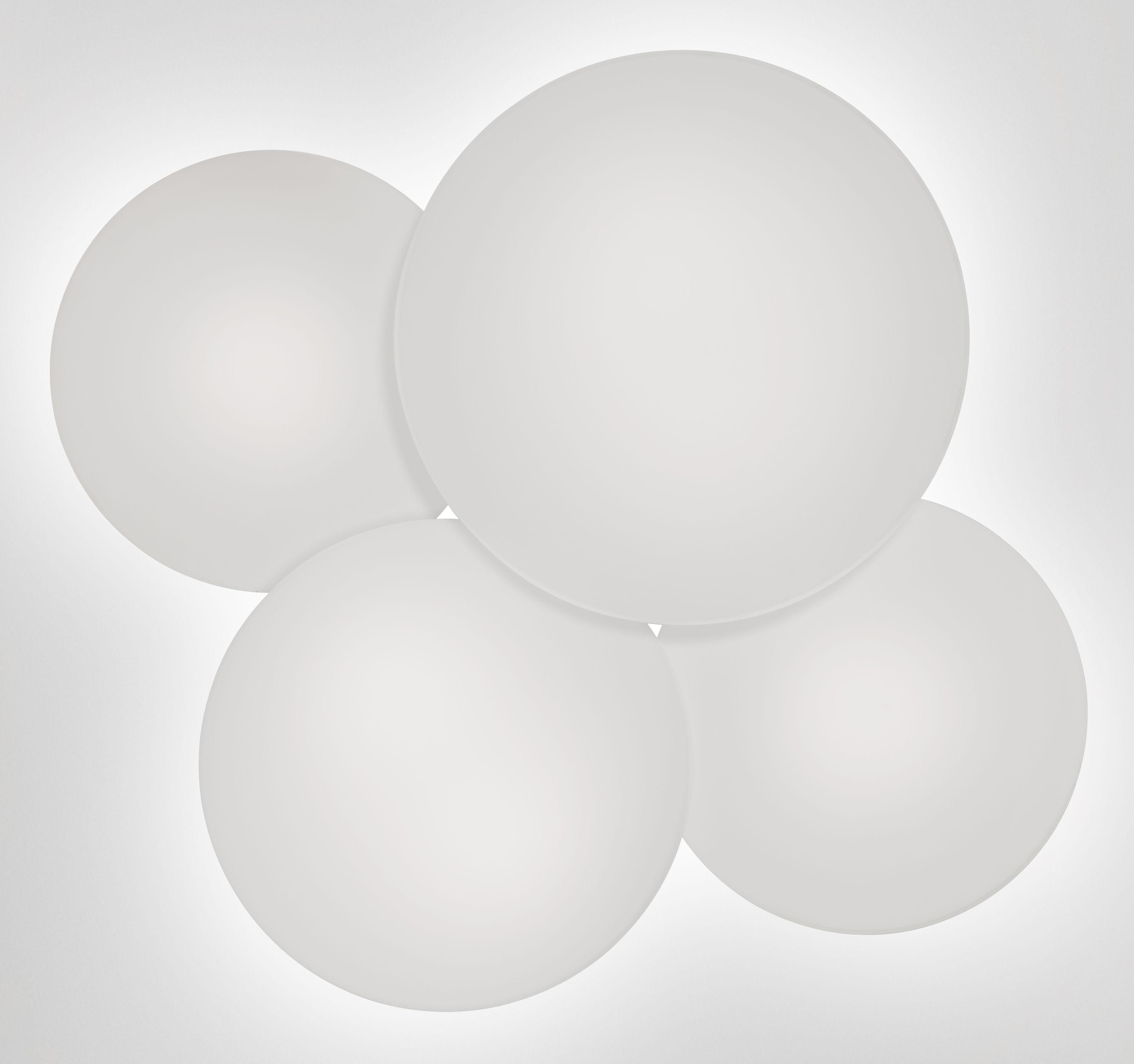 Luminaire - Plafonniers - Plafonnier Puck Quadruple / 60 x 53 cm - Vibia - Blanc - Verre soufflé