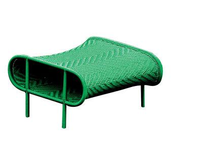 Arredamento - Pouf - Pouf Shadowy - Sunny di Moroso - Verde tinta unita - Acciaio verniciato, Fili in plastica