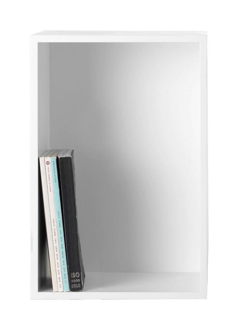 Möbel - Regale und Bücherregale - Stacked Regal rechteckiges Modul Größe L mit Rückwand - Muuto - L 65,4 cm x B 43,6 cm - weiß - mitteldichte bemalte Holzfaserplatte