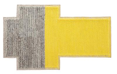 Decoration - Rugs - Mangas Space Plait Rug - / 250 x 160 cm by Gan - Yellow - Virgin wool