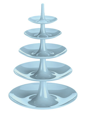 Serviteur Babell XXL / Ø 38 x H 53 cm - Koziol bleu poudre en matière plastique