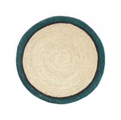 Arts de la table - Nappes, serviettes et sets - Set de table Globe / Raphia tressé main - Maison Sarah Lavoine - Bleu Sarah / Naturel - Raphia