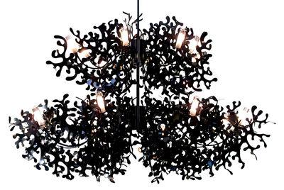 Illuminazione - Lampadari - Sospensione Supercoral 16 - Ø 140 cm di Lumen Center Italia - Nero - metallo laccato