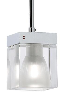 Suspension Cubetto - Crystal Glass 1 élément - Fabbian transparent en verre